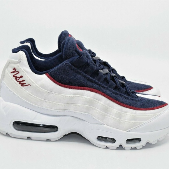 Nike Shoes Air Max 95 Lx Nsw White Blue Red Running Poshmark